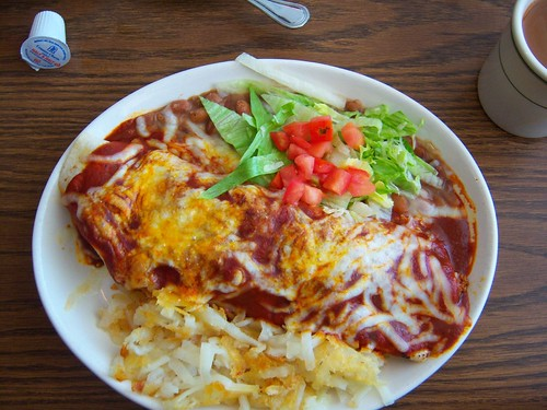 Southside Plaza Cafe- Breakfast Burrito with Red