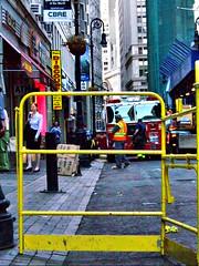Fire Scene Downtown Manhattan () Tags: street fire manhattan streetphotography firetruck financialdistrict fireman gothamist fireengine firemen fdny electricalfire fultonstreet downtownmanhattan gasfire seenonthestreet newyorkcityfiredepartment kodakz712is