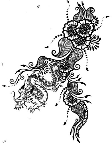Design tattoo sketch mehndi henna style