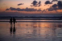 kuta sunset (*jos*) Tags: ocean travel sunset sea bali color indonesia couple holidays asia tramonto mare romantic canon5d spiaggia coppia beautifulbali exceptionallybeautifulbaligallery
