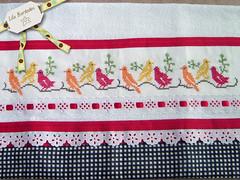 Pássaros (Lila Bordados em Ponto Cruz) Tags: decoração cozinha bordado pontocruz panosdeprato