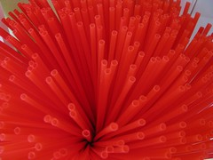 red straws (TheTruthAbout) Tags: red macro art straws