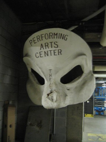 Performing Arts Center mache mask