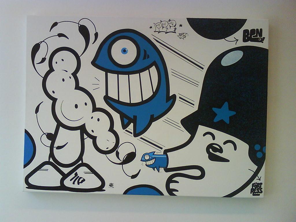 [Graff / Toiles / Stickers] FLYING FORTRESS 2695611665_44545e5aac_b