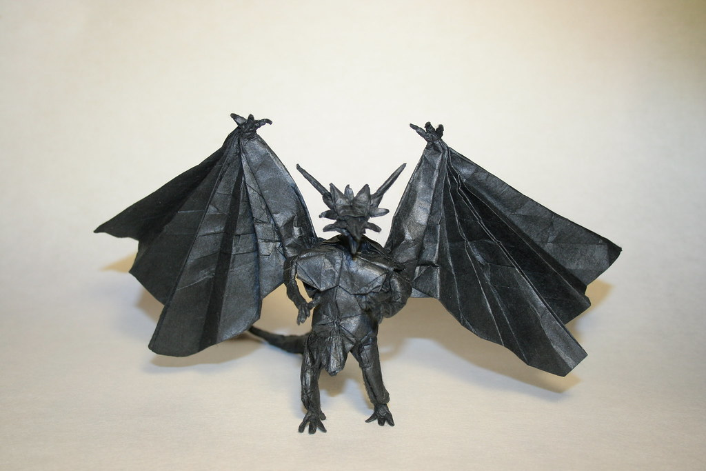 Divine Dragon Bahamut PhillipWest Tags Origami Paperfolding Papiroflexia