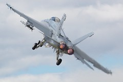 F/A-18 Hornet - Take Off (frielp) Tags: uk nikon fighter d70 jet airshow hornet f18 2008 takeoff farnborough 216 70200mm fa18 14tc