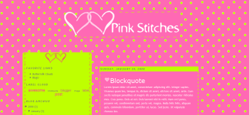 Pink Stitches Template