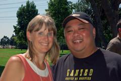 With Carolyn
