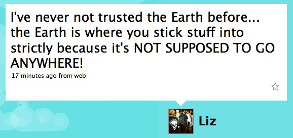 Twitter / Liz: I've never not trusted the ...
