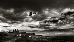 Dunstanburgh...widescreen (Parcelpacker) Tags: castle clouds skyscape nikon northumberland dunstanburgh d80