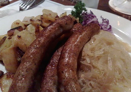 Hong Kong - sausages, potatoes, sauerkraut