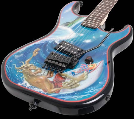 surf guitar art design