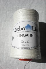 White lace weight linen