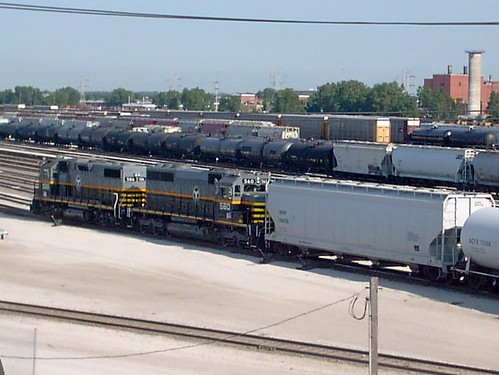 Switching activity at the busy Belt Railway of Chicago Clearing Yard. Chicago Illinois. July 2007. by Eddie from Chicago