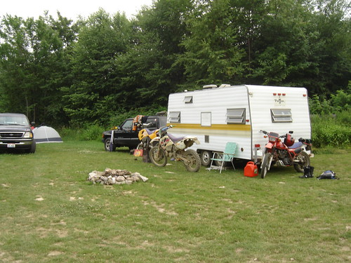 Camper, KTM 300's, and Honda XL600
