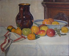 Fruits-1921 (Chamant) Tags: life stilllife mer france art nature painting belgium belgique aquarelle fineart paintings brugge lot dordogne peinture canvas morte painter oil impressionism sur bruges guerre georges impressionist bam emile oilpainting ypres naturemorte peintre frenchriviera quercy cagnes oise impressionnisme postimpressionism impressionniste grandeguerre peinturelhuile jemappes carennac chamant peintrebelge postimpressionniste lebacq georgesemilelebacq georgesmile belgianpainter georgeslebacq