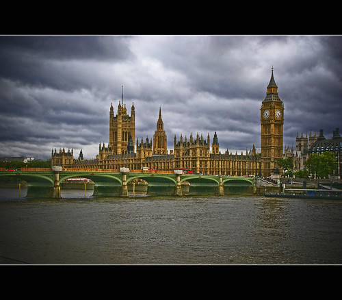 Westminster Palace and the clouds...