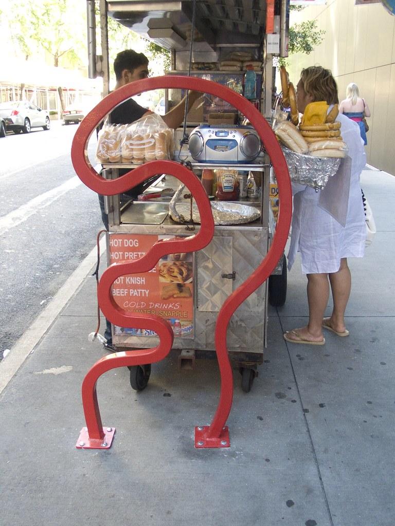 David Byrne Bike Rack on 54th street