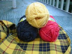 baby ull for tartan socks