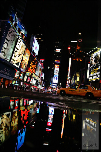 Times Square puddles