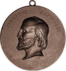 Bois Durci Garibaldi Medal Obv