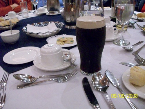 Ireland - Hotel New Park Killkenny - Yup my Pint O'Guinness has arrived