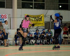CCRG (091308) (fordprefectajt) Tags: flickr rollerderby rollergirls maryland baltimore playoffs canton dollyrocket charmcityrollergirls ccrg nightterrors junkyarddolls mibbsbreakinribs duburnsarena 09132008