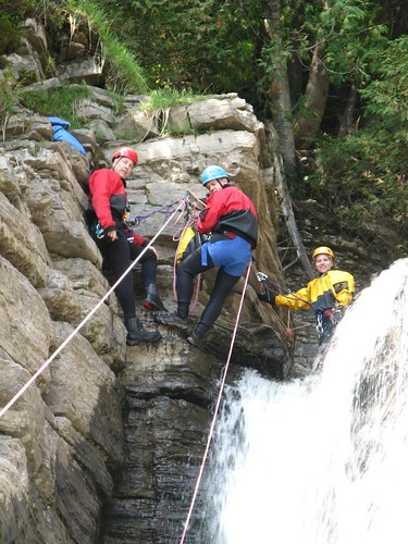 Canyoning Québec, chutes Jean-Larose por mcarpentier.