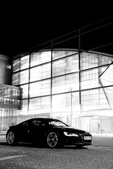 Audi R8 (AndWhyNot) Tags: black car night long exposure sb600 andrew portsmouth audi v8 incinerator whyte r8 andwhynot 414bhp