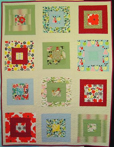 Birds & Blooms baby quilt