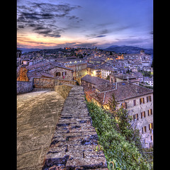 Porta Sole - Perugia (R.o.b.e.r.t.o.) Tags: sunset meridiani lights bravo published tramonto roberto perugia hdr umbria italians firstquality fpg anawesomeshot holidaysvacanzeurlaub vertorama portasole