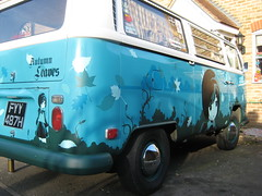 69 vw westfalia  passenger side (farkfk) Tags: bus vw fun bay stencil tea fark manga saturday spraypaint van 69 commission combi fk campervan westfalia baywindow vst farkfk vstcrew