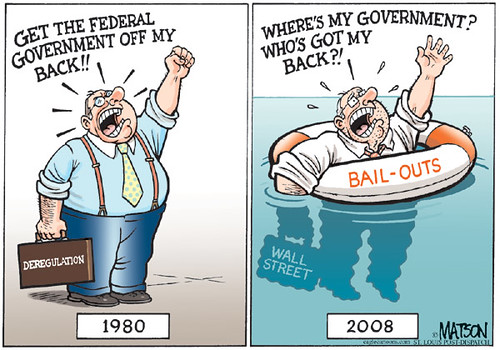 Cartoon Wall Street Bailouts