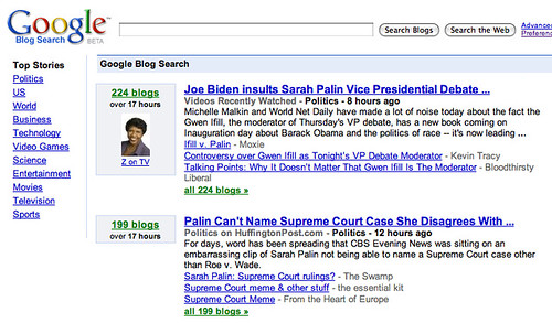 Google Blog Search Design