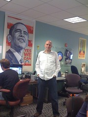 Raven at Obama HQ in Chicago