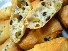 Bread - olive & sea salt ciabatta (Peter Arthold) Tags: black bread baking baker dough olive pane brot breadrolls serials breadloafes