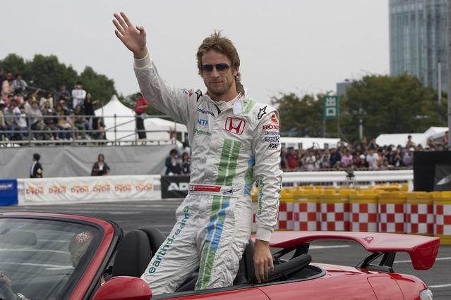 Jenson Button at Odaiba