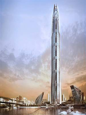 The world's tallest tower in Dubai