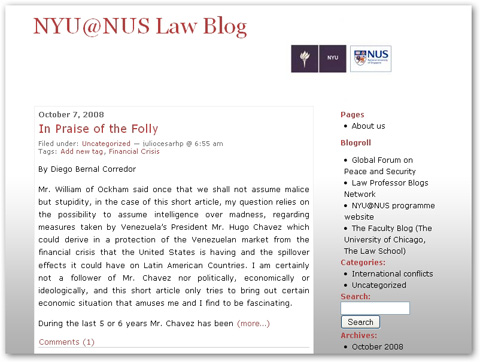 NYU@NUS Law Blog