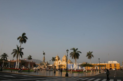 Plaza de Armas, Trujillo, northern Peru.