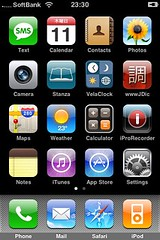 New iPhone, home screen