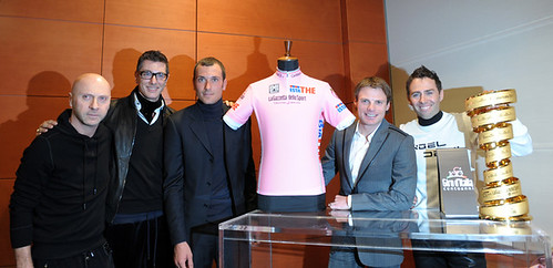 "Dolce and Gabbana design the ""Maglia Rosa"" for the 100th Giro D'Italia"