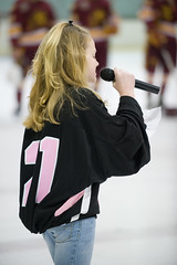Singing national anthem (mark6mauno) Tags: california beach hockey st gardens garden nikon long university breast singing state song cancer longbeach american sing jersey nikkor breastcancer csulb acha d3 anthem association collegiate glacial 70200mmf28gvr longbeachst 200809 glacialgarden nikond3 americancollegiatehockeyassociation