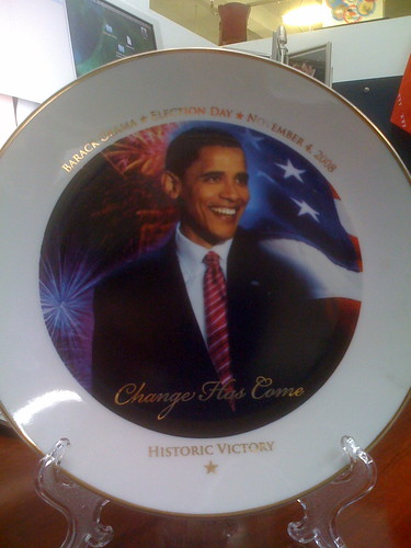 barack obama commemorative plate