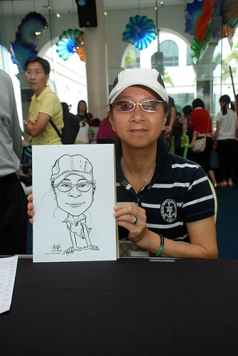 Caricature live sketching at Singapore Art Museum Christmas Open House - 4