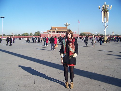Me in front of Mao in Tianmen Square, China