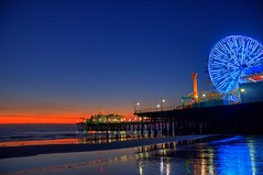 Santa Monica Pier (Geekstalt) Tags: california travel sunset losangeles santamonica santamonicapier hdr supershot mywinners worldwidelandscapes