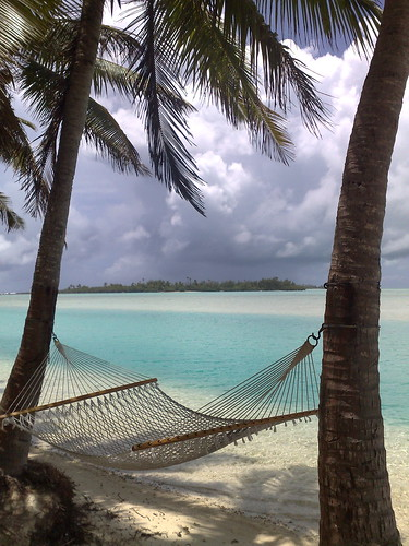 Aitutaki lazing, Cook Islands