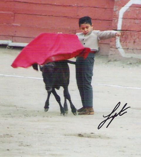 Niño torero Francisco Rondinel en Acho