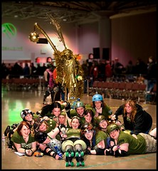 Their New Trophy (St Paul Paul) Tags: sports minnesota athletics women minneapolis rollerderby athletes twincities athlete rollerskate flattrack wftda nsrg northstarrollergirls thekilmoregirls